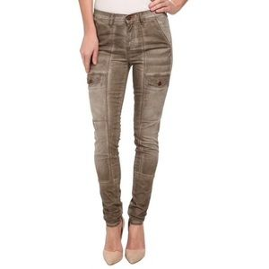 Ditto Cargo Pocket Stretch Skinny Jeans High Rise